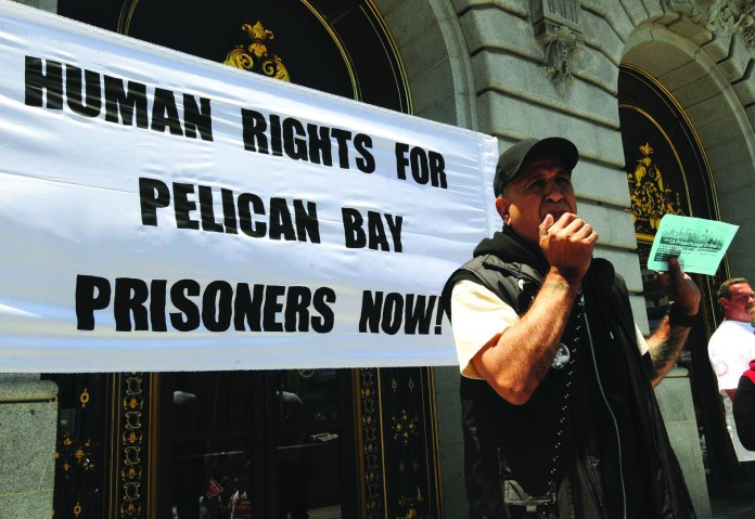 Bato-Talamantez-urges-support-for-SHU-hunger-strike-at-anti-war-on-drugs-rally-061711-by-United-for-Drug-Policy-Reform, The four California prisoner class representatives call for solidarity and change, Behind Enemy Lines