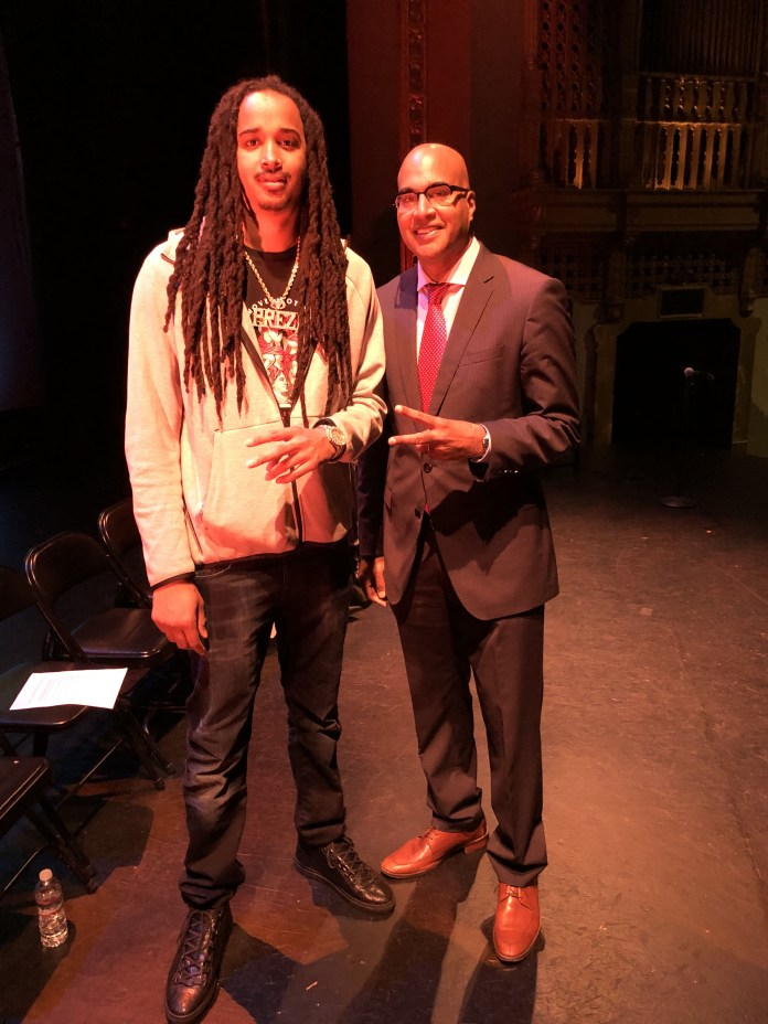 SF-Public-Defender-Mano-Rajus-Community-Oath-of-Office-Black-History-Month-celebration-rapper-Prezi-praises-representation-022720-by-Kevin-Epps, Mother of Mario Woods administers oath to San Francisco Public Defender Mano Raju at packed community inauguration, Local News & Views