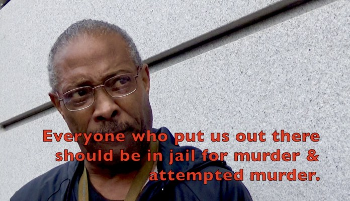 Treasure-Island-lawsuit-press-conf-Andre-Patterson-Everyone-who-put-us-out-there-should-be-in-jail-...-012120-by-Carol, Treasure Island: 'Everybody who put us out there should be in jail for murder and attempted murder', Local News & Views