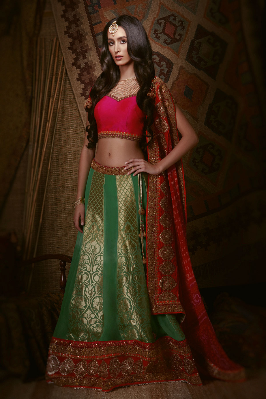 Indian Bridal Traditional Wear Fusion Wedding Dress