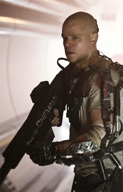 Elysium. This film has Matt Damon.