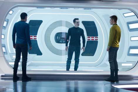 In Star Trek Into Darkness, actor Cumberbatch is... eskimo red shirt John Harrison?
