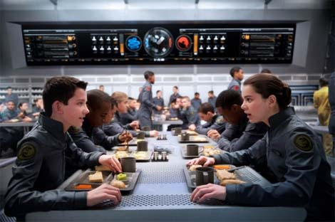 Ender's Game... at Battle School, you eat for free.