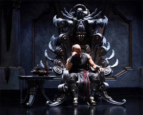Riddick... alone.