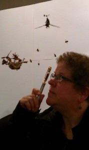 Con member examining The Terror by Tessa Farmer