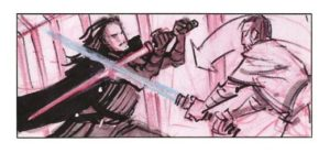 Star Wars Storyboards: The Prequel Trilogy LucasFilm Ltd, introduction by Iain McCaig, edited by J.W. Rinzler (Abrams, £21.99) Copyright © 2013 Lucasfilm Ltd. and TM.