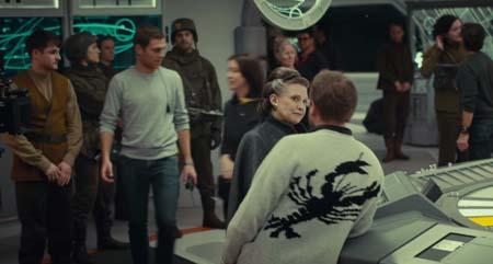 Star Wars: The Last Jedi ... behind the scenes footage.