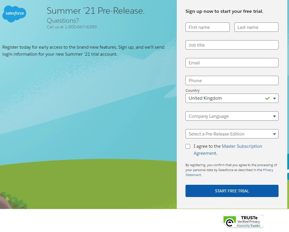 Pre-Release Signup for Summer 21
