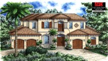Two-Story Spanish Style Home Plans