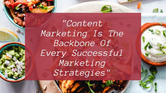 Content marketing backbone in Marketing