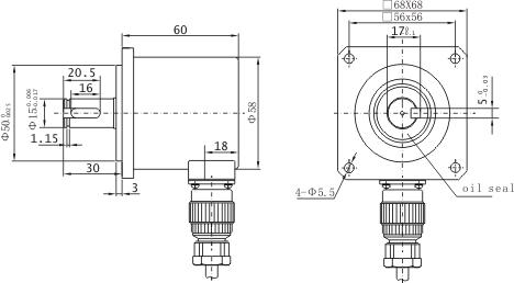 PZF5815-Solid-Shaft Incremental Rotary Encoder-CHINA