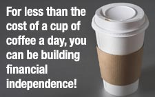 Less than a daily cup of coffee!