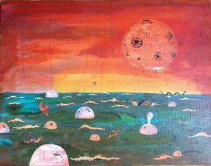 Untitled with Moon