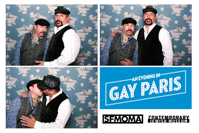 Two museums, two Gertrude Stein related institutions, one Evening in Gay Paris an event which invited the LGBT community to our evocation of 1920's Paris. These photobooth photos seen below are on a backdrop of wallpaper from the home that Gertrude Stein and Alice B. Toklas shared.