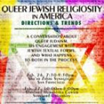 Queer Jewish Religiosity in America - Registration