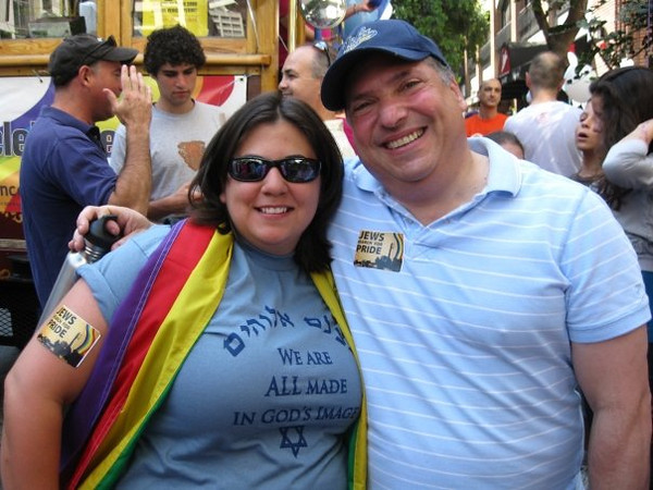 One of my favorite colleagues at Pride with her Rabbi