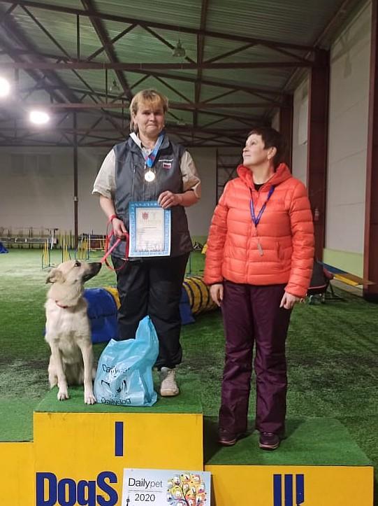 Призеры Чемпионата Санкт-Петербурга по аджилити 2020 класса Старт в категории Макси