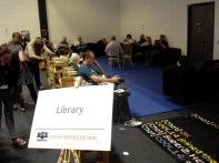 Worldcon 2014 - Fan Village 02 - Library