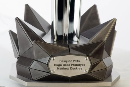 Hugo trophy 2015 base prototype by Matthew Dockrey, photo by David Bliss Photography