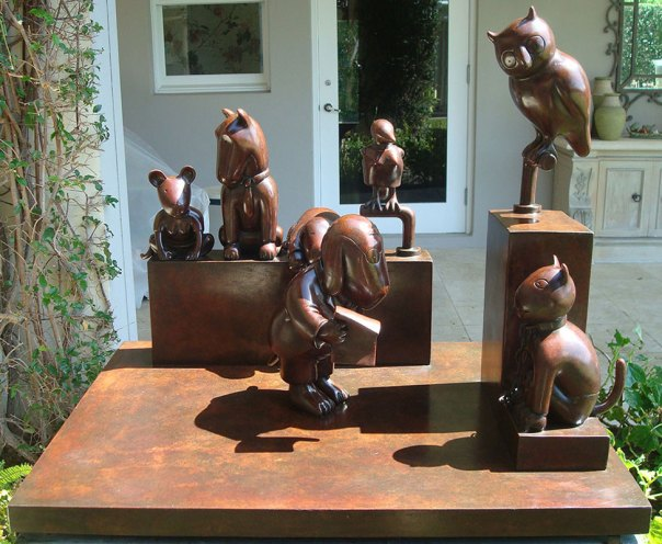 """Tom-Otterness, """"Trial Scene from the Law of Nature"""" After treatment."""