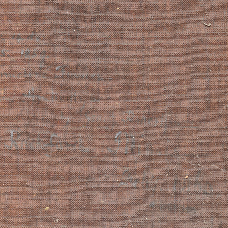 The canvas in this painting have darkened with oxidation and ageing. The inscription was barely legible.