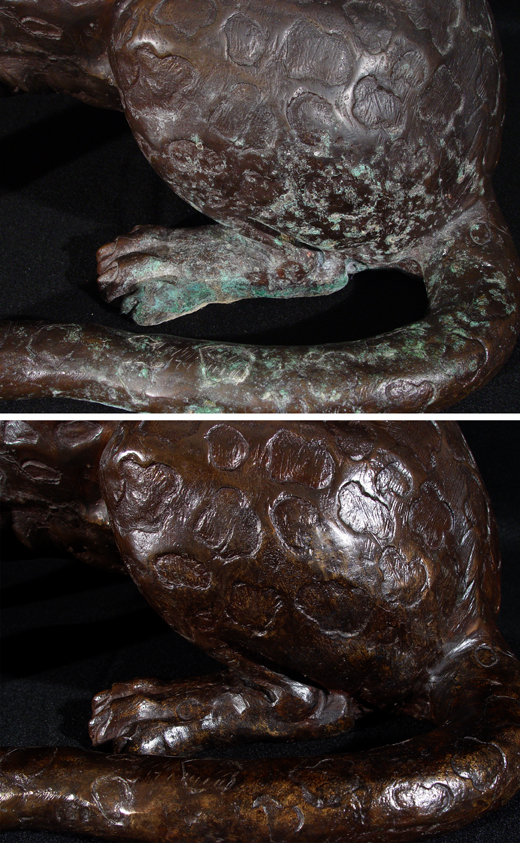 Pitting corrosion before and after treatment.