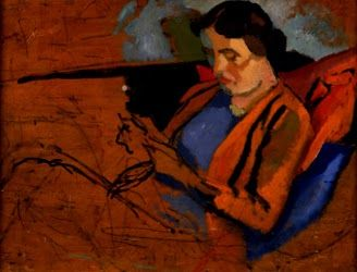 This side of modernism: Study of Vanessa Bell Reading by Roger E. Fry