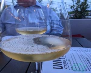 glass of ferrante pinot grigio