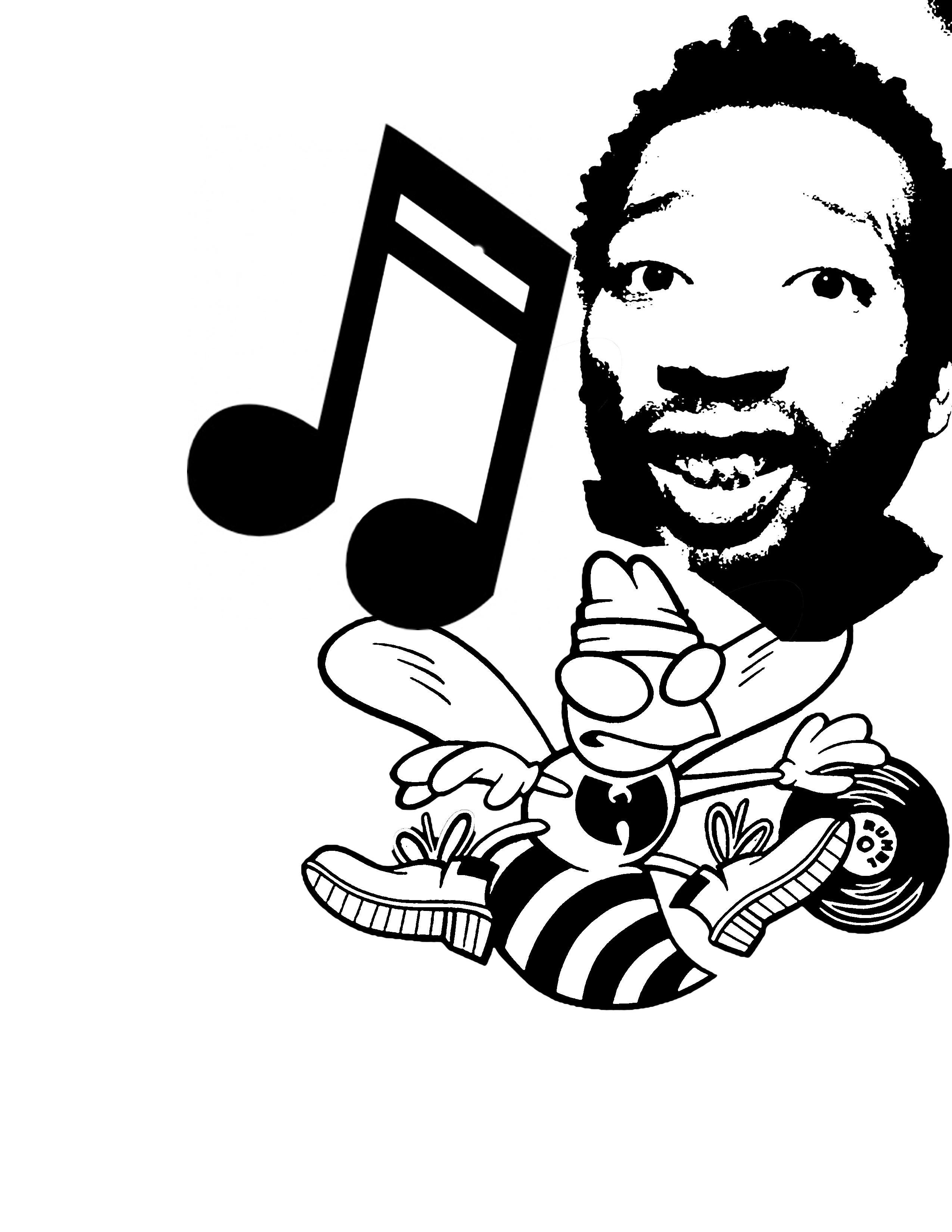 Hip Hop Stencil