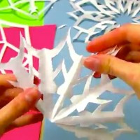 How To Cut a Proper Paper Snowflake [video]