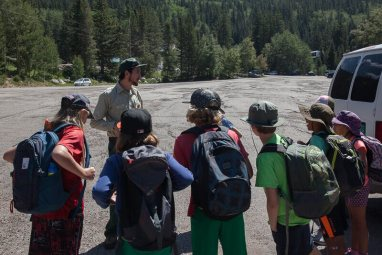 Ranger Ezra preparing the older campers for some trail work