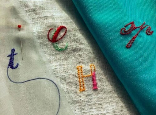 Modern Monograms with Embroidered Text with Sarah Pedlow