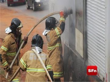 incendio em caminhão