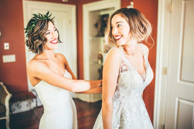 Maid Of Honor Etiquette For Wedding Dress Shopping | Maggie ...