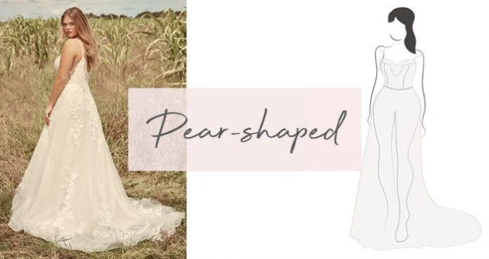 Diagram of Wedding Dress for Pear-Shaped Brides