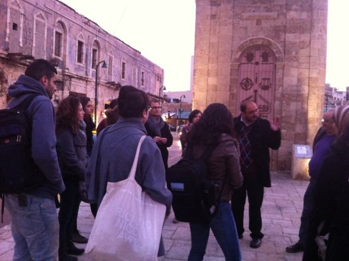 School for Peace Tel Aviv University students touring Jaffa