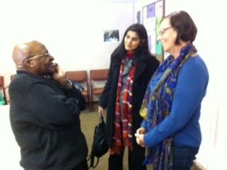 Nava Sonnenschein with Rev. Desmond Tutu