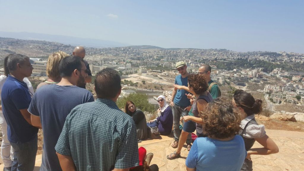 Looking out over Nazareth with the Deputy Mayor