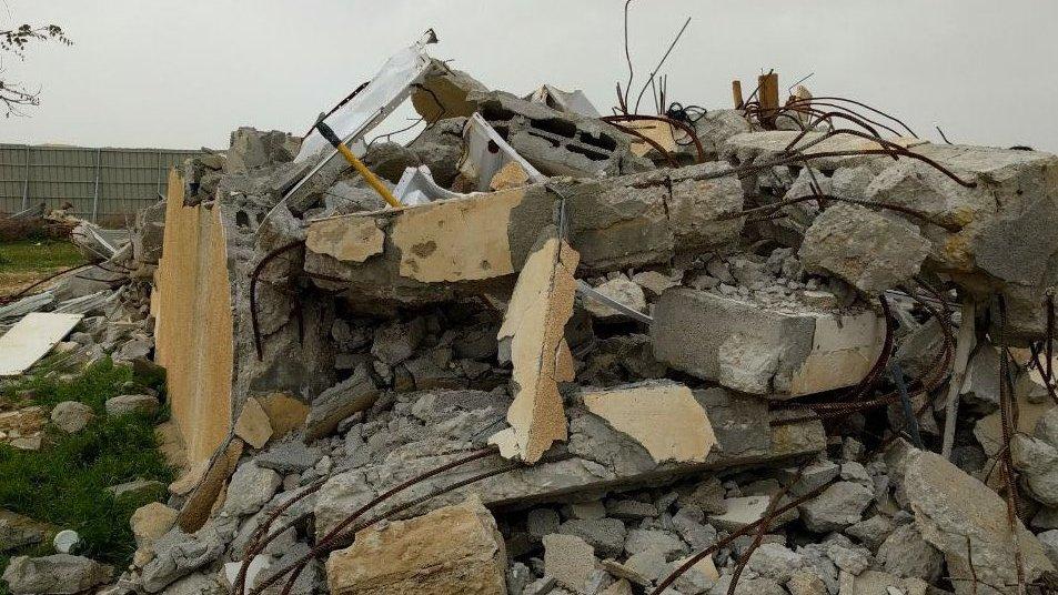 umm al hiran - demolished home