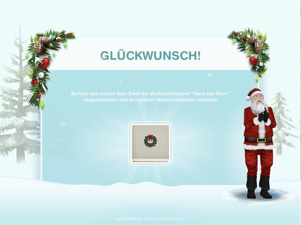 Gewinn: grüner Weihnachtskranz