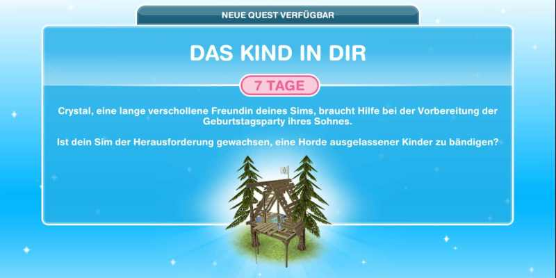 "Queststart ""Das Kind in dir"""