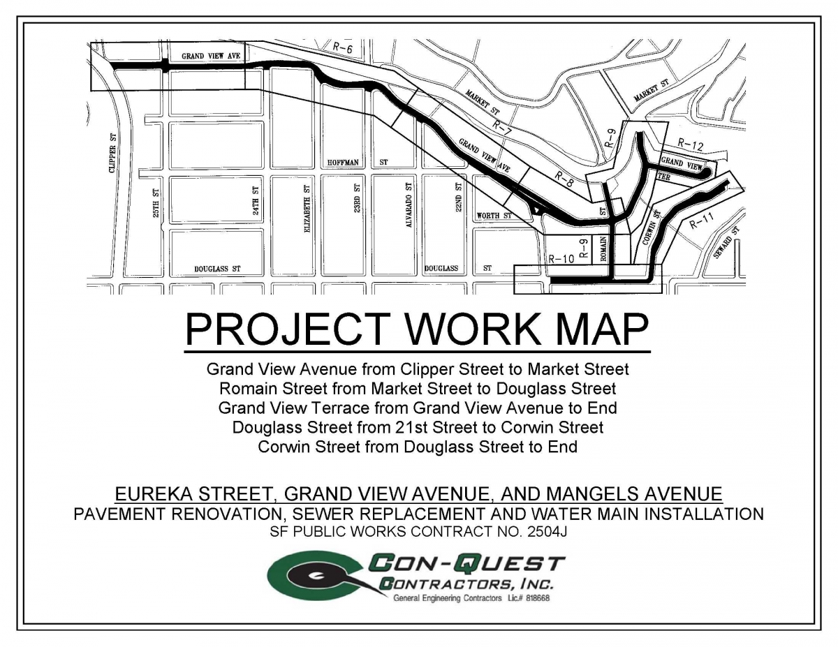 Eureka, Grand View and Mangels Pavement Renovation, Sewer