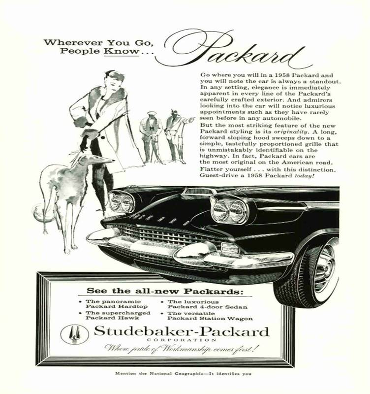 Car Ads Published in National Geographic Magazine (1946