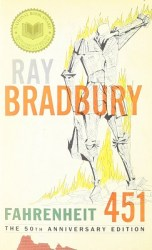 Fahrenheit 451, by Ray Bradbury book cover