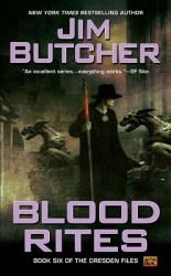 Blood Rites, by Jim Butcher book cover