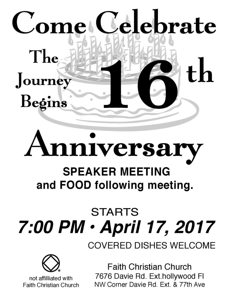 The Journey Begins 16th Anniversary