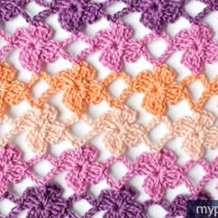 Diagram For Granny Square Crochet Stitch 2001 Chevy Impala Radio Wiring How To The Lacy Flower Pattern (video Tutorial & Diagram) - Diy Everywhere