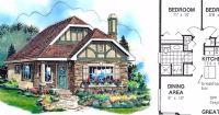 6 tiny Tudor home floor plans