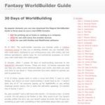 30 Days of WorldBuilding