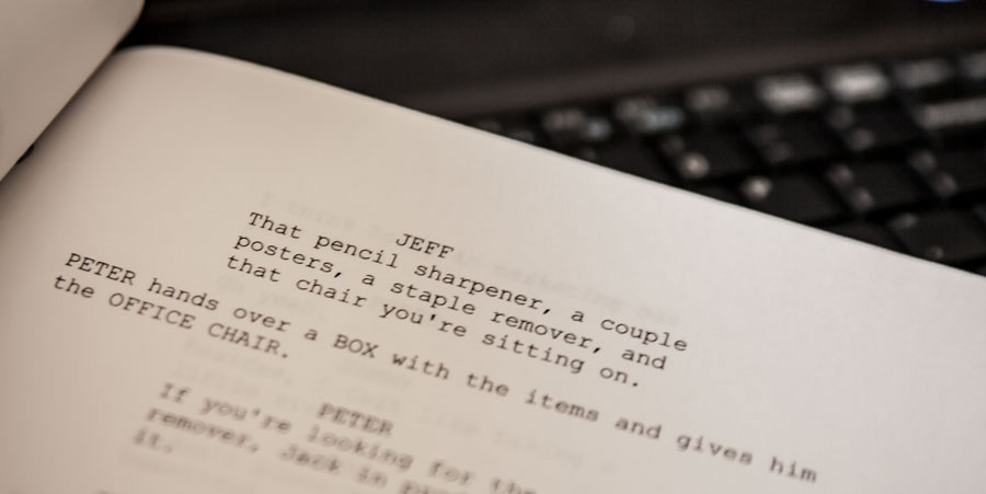 Screenplay header - LMU Student Picked for Writers Program is Latest Coup for Screenwriting Department